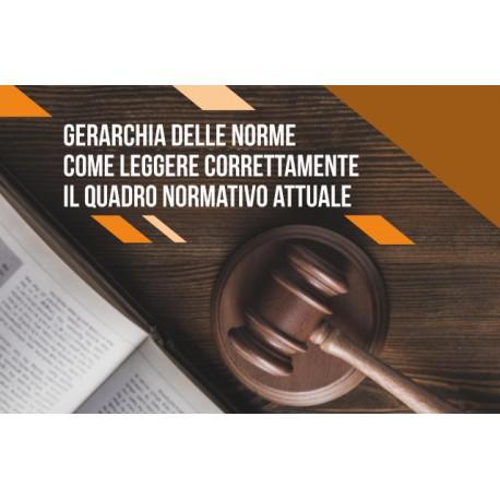 GERARCHIA DELLE NORME: COME LEGGERE CORRETTAMENTE IL QUADRO NORMATIVO ATTUALE