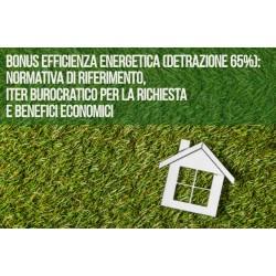 CORSO BONUS EFFICIENZA ENERGETICA (DETRAZIONE 65%):